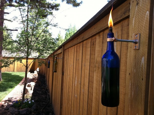 Recycled Wine Bottle Tiki Torch Tutorial