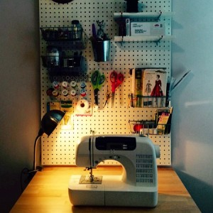 sewing nook with table up